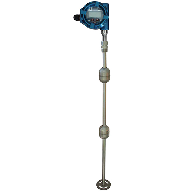 Magnetostrictive liquid level gauge